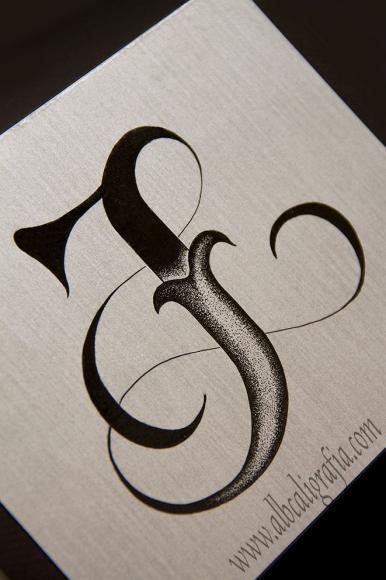 Lettering de monograma JL