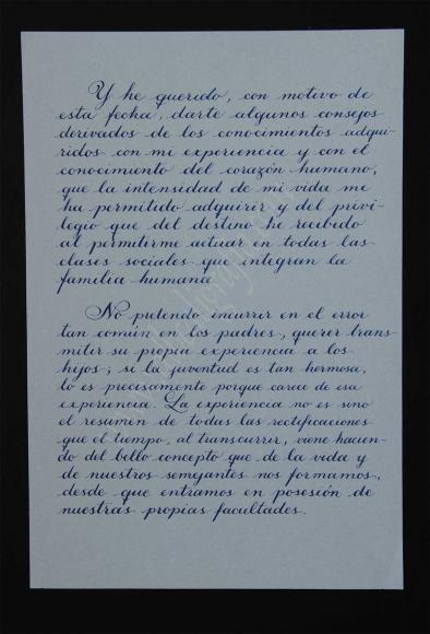 Transcripción de la segunda parte de la carta del General Obregón a su hijo Humberto