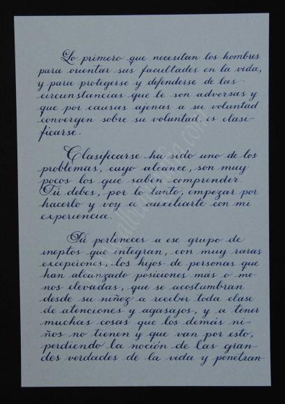 Transcripción de la tercera parte de la carta del General Obregón a su hijo Humberto