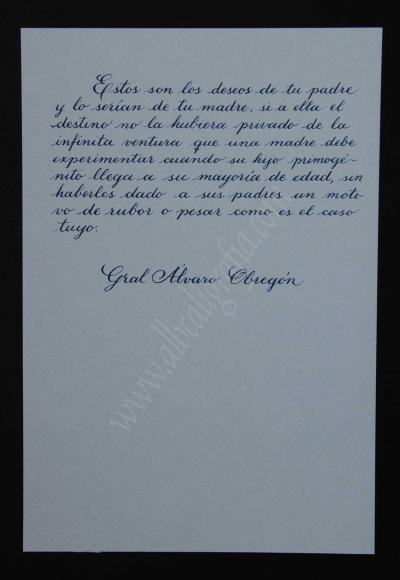 Transcripción de la sexta parte de la carta del General Obregón a su hijo Humberto