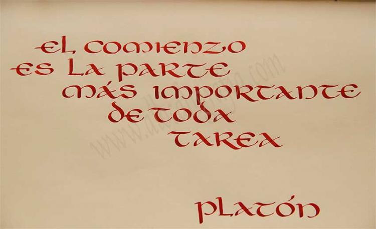 Frase sobre de Platón: El comienzo es la parte más importante de toda tarea