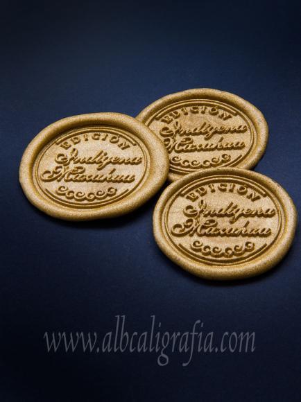 Medallones de lacre oro