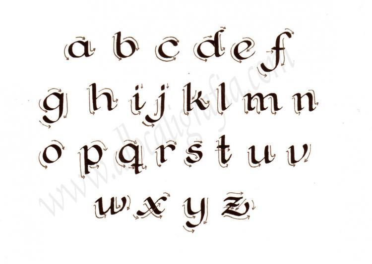 Trazos de letra caligráfica Fundacional