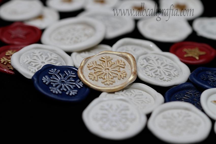 Medallones de lacre navideños