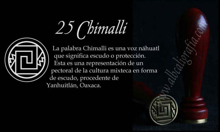 Sello para lacrar con diseño Chimalli (escudo en náhuatl)