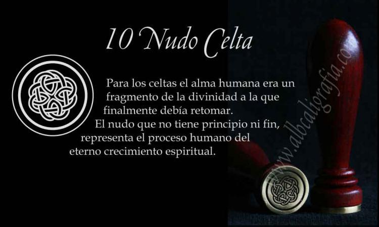 sello para lacrar con diseño de nudo celta