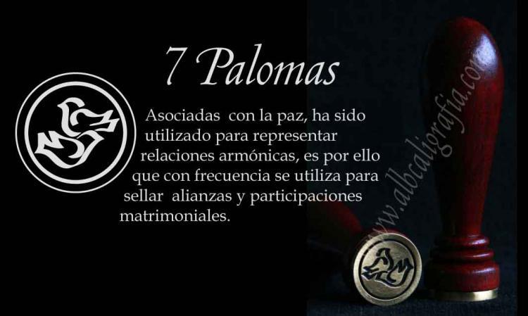Sello para lacrar con diseño de Palomas
