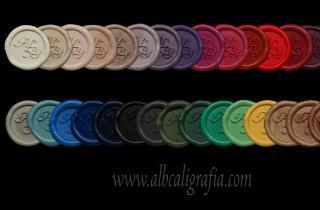 Medallones de lacre marca ALB en 30 colores