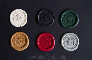 6 medallones de lacre en colores surtidos para sellar botellas