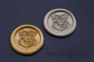 Medallones de lacre oro y plata con escudo