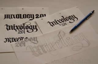Bocetos para logotipo Mixology