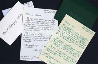 Cartas escritas en caligrafía