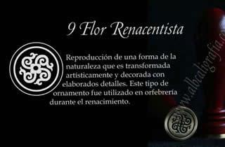 Sello para lacrar con diseño de Flor Renacentista