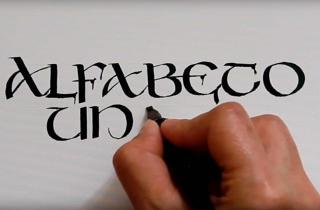 Muestra de letra uncial