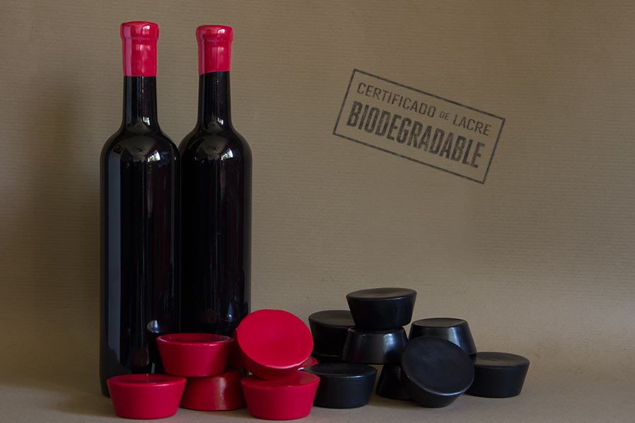 lacre biodegradable estandar rojo negro