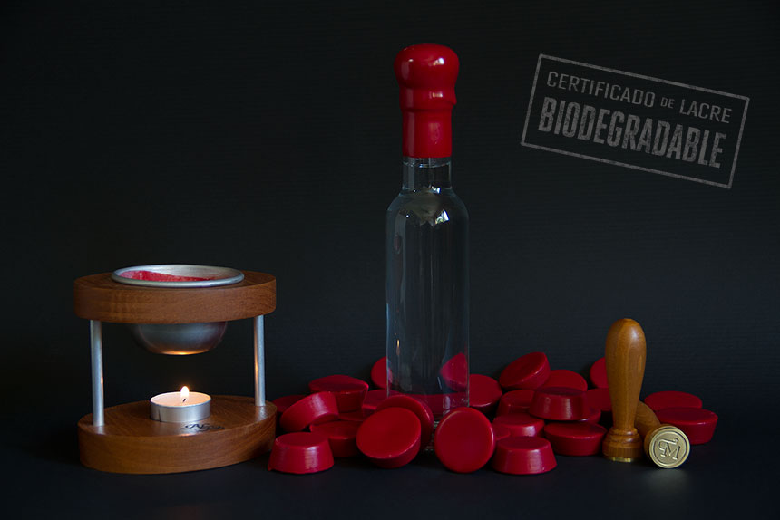 lacre biodegradable set botellas